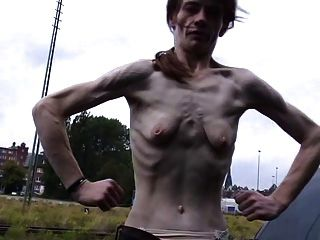 a skinny mature woman with small empty saggy tits tmb 1