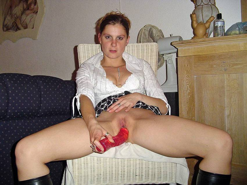 Masturbates busty with toy girl a for