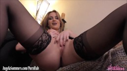 angela sommers dirty talk masturbation and pov cock ride 1