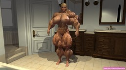 animated female muscle