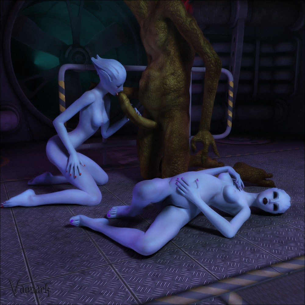 Lez animation naked sexy excited too with