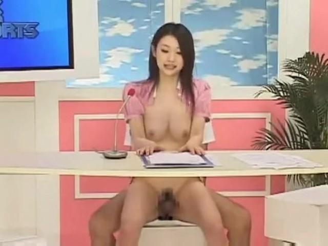 Japan Nude Tv Reporter - Hot news reporter gets big surprise - MegaPornX.com