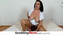 bbw big tits mom danielle facesitting tiny boy 1