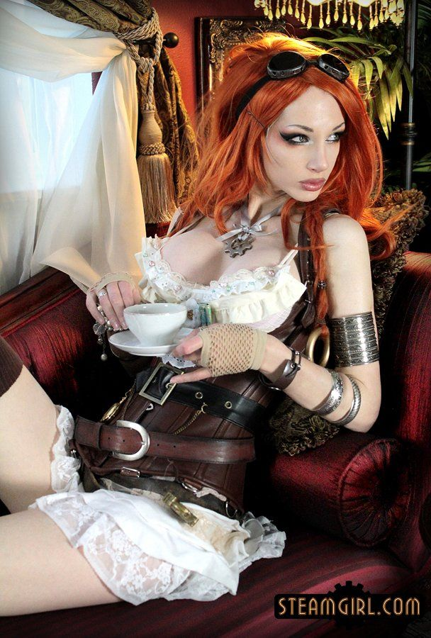 Nude steampunk cosplay girl agree