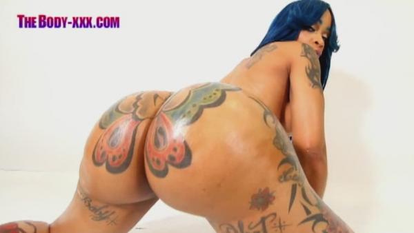 Ebony Butterfly Tattoo Ass