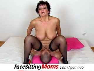 big natural tits lady greta with a boy czech facesitting 1