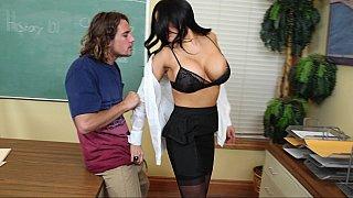 big tits teacher fucks her big dick student at the office 2