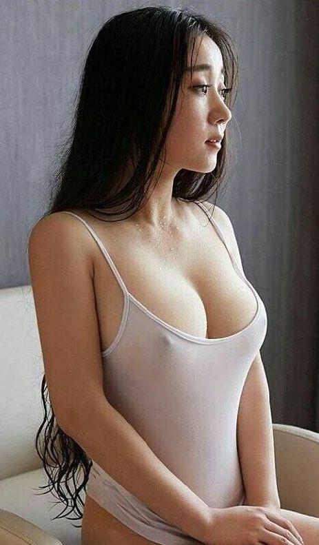 Natural big boobs in public see through bikini tmb
