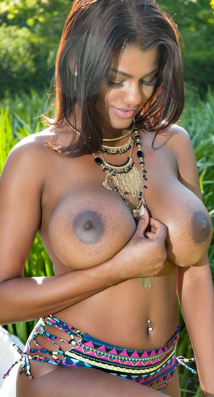 Big Ebony Tits White Dick