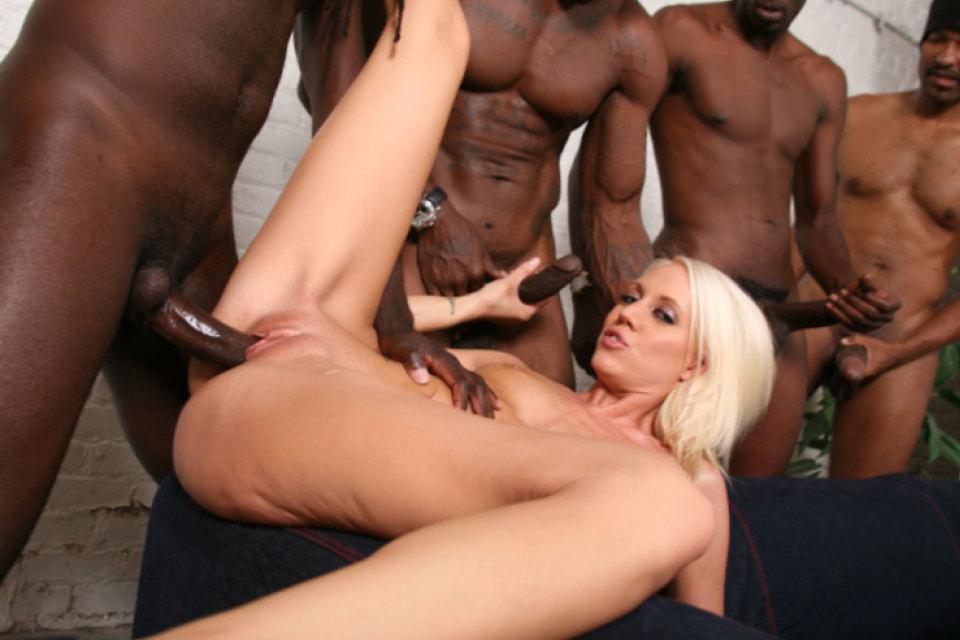 White Girl Two Black Men