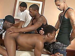 black orgy gay guys get together and have a black orgy 1