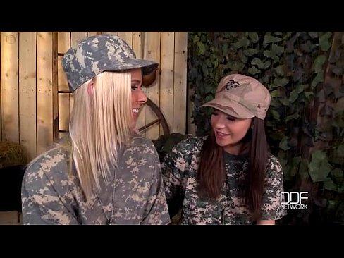 blonde brunette military lesbian fuck off 3