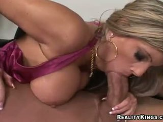 blonde secretary fucking her boss in the office
