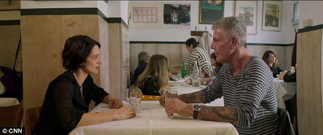 bourdain is reportedly dating actress asia argento who he met last year when she appeared