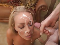 Massive Face Cumshot - naughty milf gets facial cumshot 2 - MegaPornX