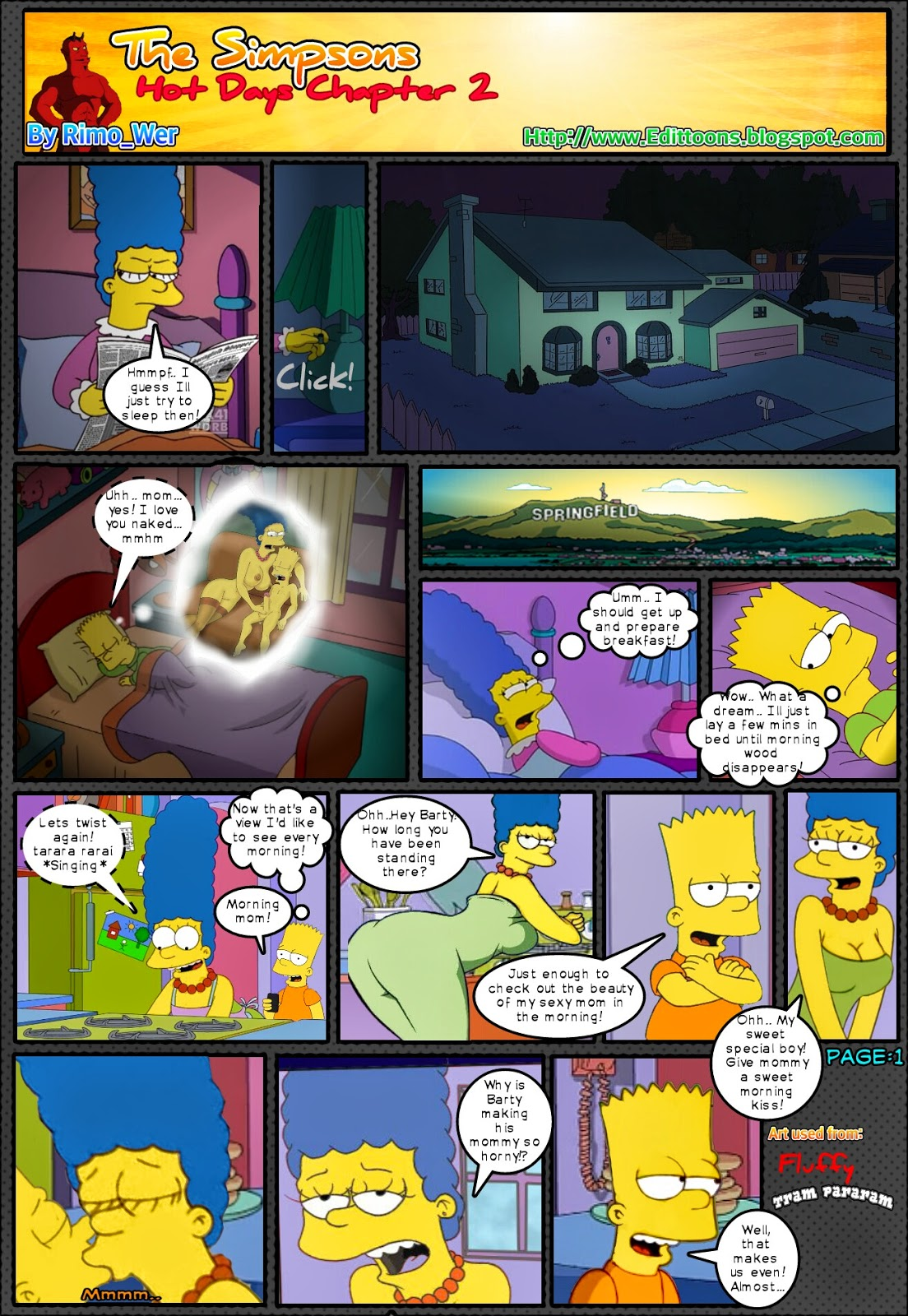 Bart simpson porn comic