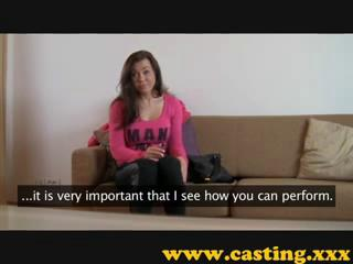 euro babe casting audition sex interview on couch in hotel room