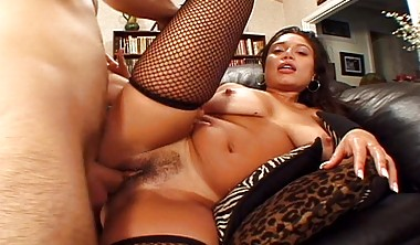 exotic lingerie babe luccia fucked in stockings