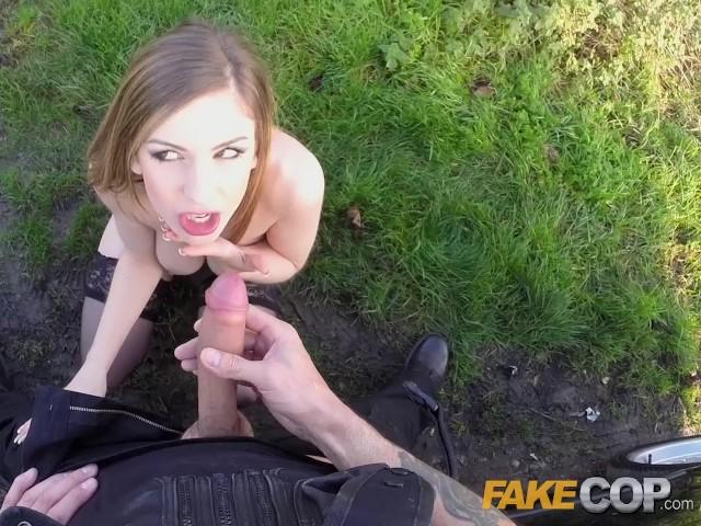 Skinny Brunette Fake Tits