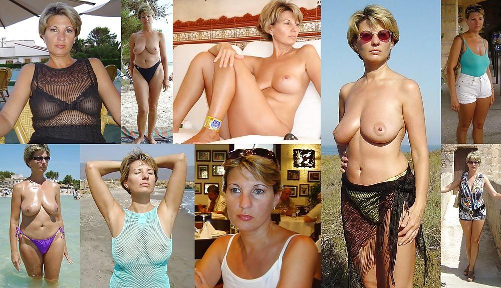 dressed nude milf