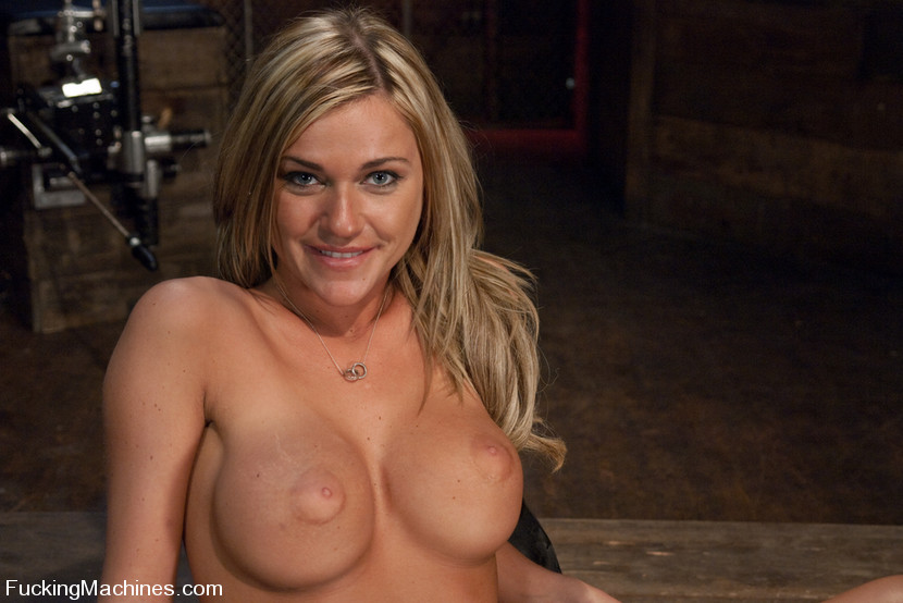fucking machines blue eyed blond hottie with perfect huge tits