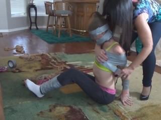 girl duct tape mummified girl