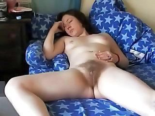 Sexy Ebenholz Teen masturbiert