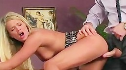 handsome teacher fucks gorgeous blonde