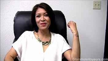 hd asian milf gloryhole interview blowjob
