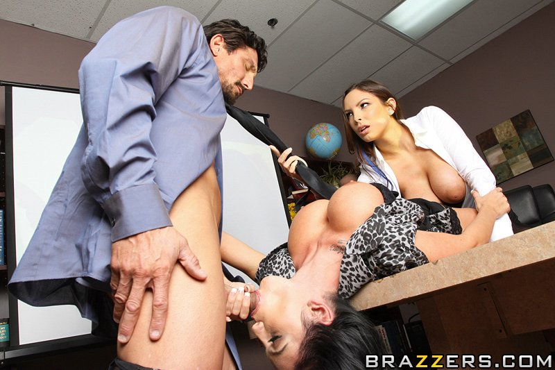 Hot Big Tit Asian Threesome