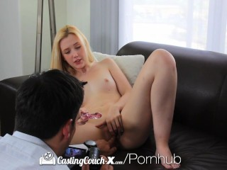 hd castingcouch pretty samantha rone gets tight pussy fucked 1