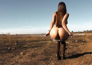 horny amazing body babe outdoor nudism perfect ass pussy tits argentina naked