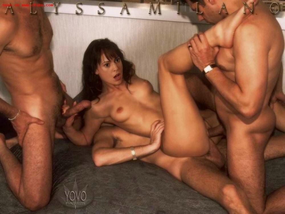 Confirm. agree threesome alyssa sex milano agree