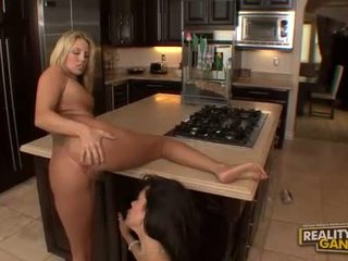 innocent blonde and brunette lesbians with big tits fingering and tits massage