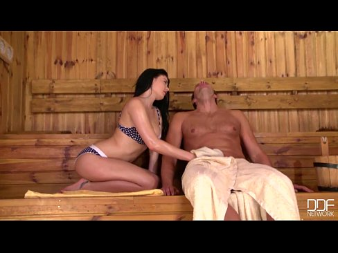 insatiable teen lucy li rides a fat dick in the sauna 2