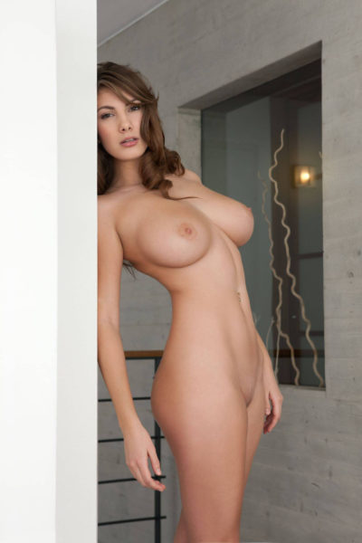 Naked in front of a girl