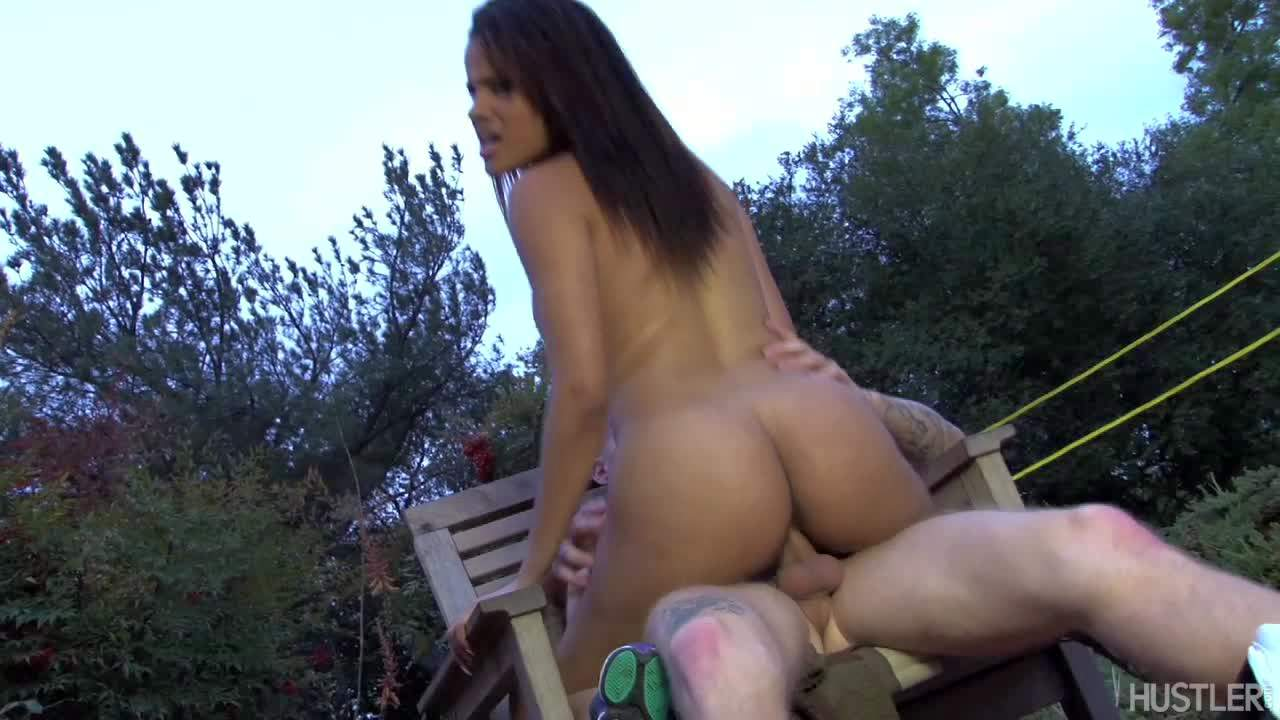 latina aria arial rides dick under the open sky