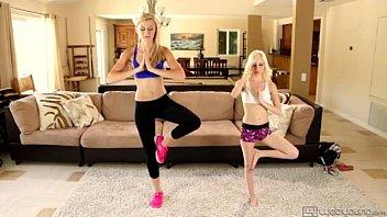 lesbian sex after fitness lesson alexa grace