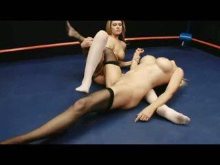 Wrestling Öl Asiatisch Lesbisch TV Programm