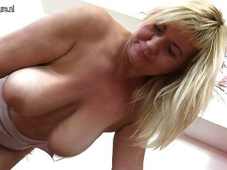 lovely mature mom shakes big saggy tits and pussy tmb