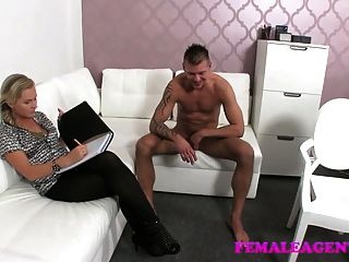 male model bangs female agent in panties porn tube video