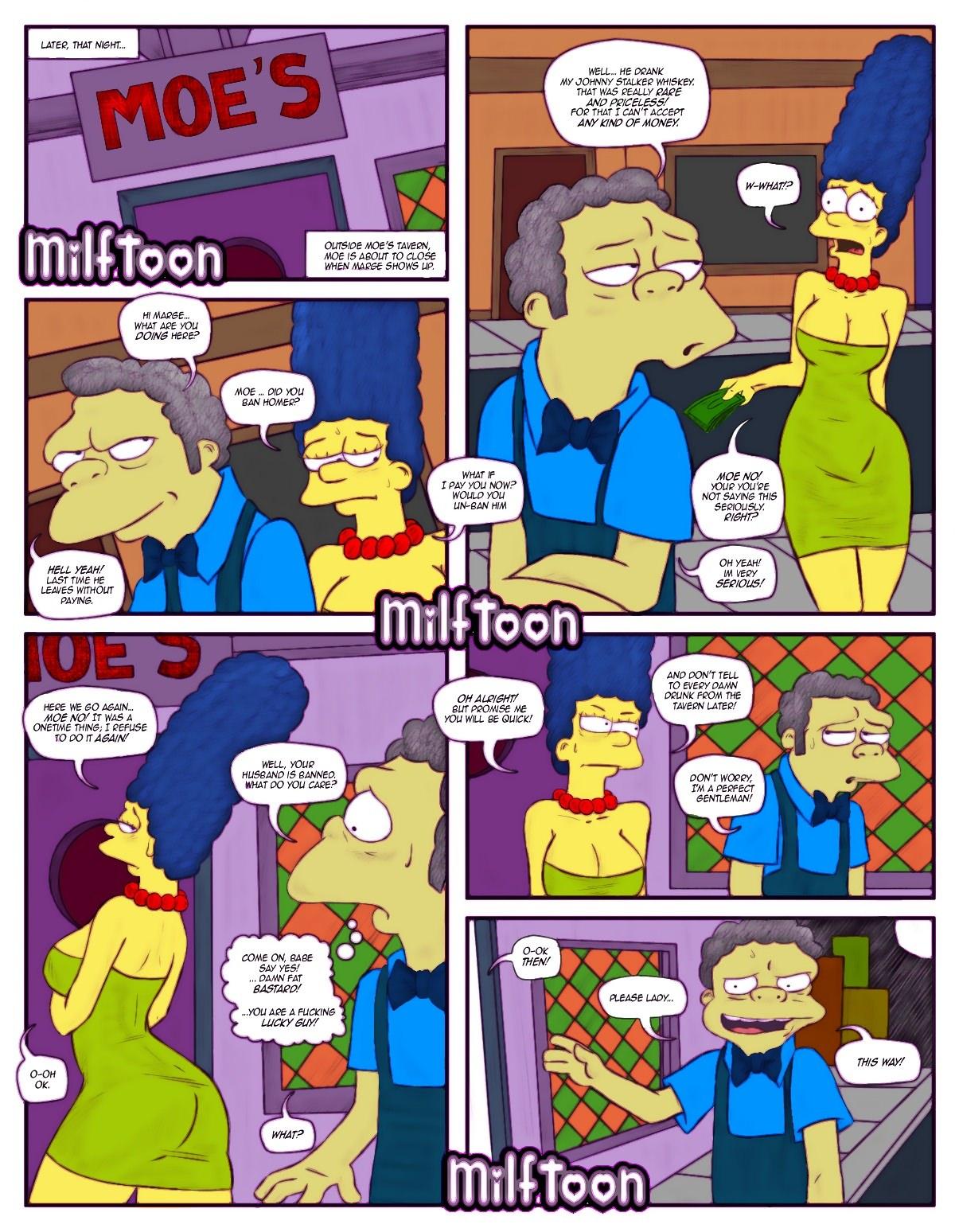 Simpsons comic nackt