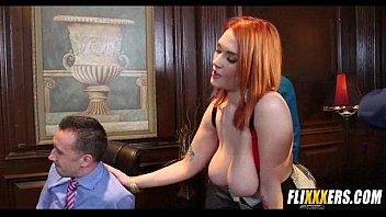 massive tits redhead office sex siri