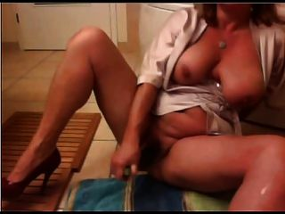 mature milf huge ass tits big butt cucumber masturbation tmb