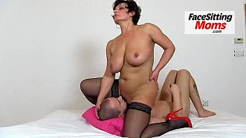 melon sized tits cougar eva facesitting