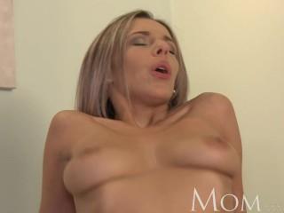 mom blonde milf loves warm cum on her pussy 1