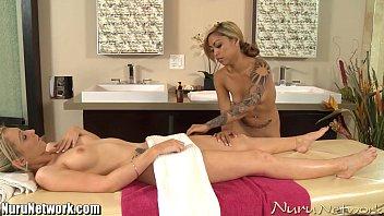 nurunetwork big tits babe lesbian massage