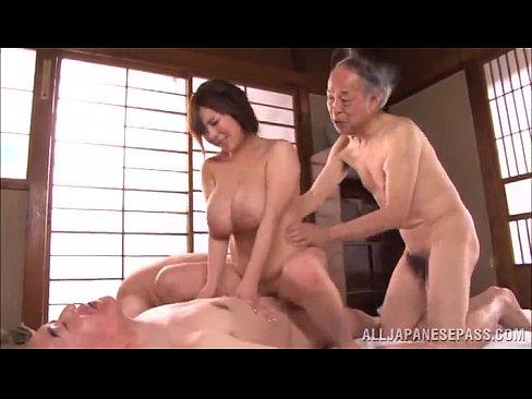 Gangbang huge boobs Old Men Get Hard To Gangbang A Huge Boobs Japanese Slut Megapornx