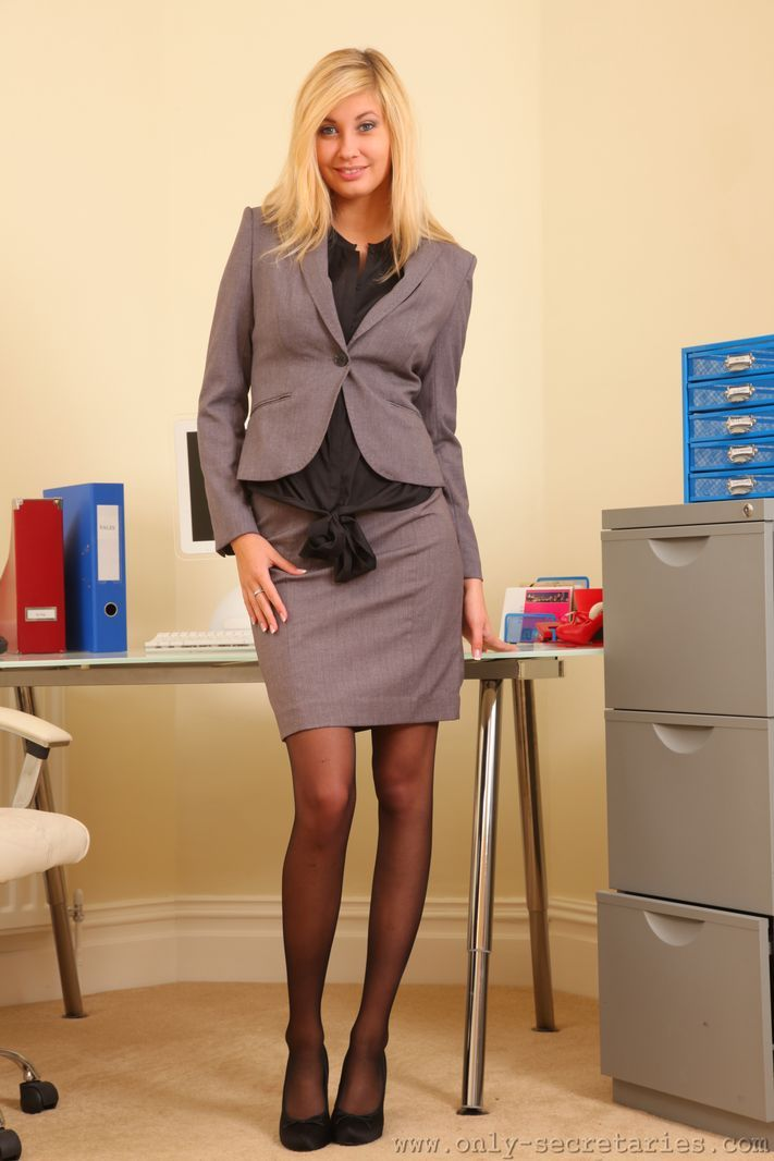 sexy secretaries in stockings and heels