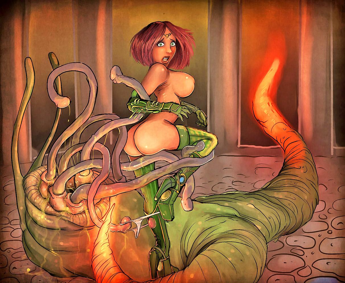Alien Hentai Sex Slave Captions - monster attack porn monster sex nude cartoon 6 - MegaPornX